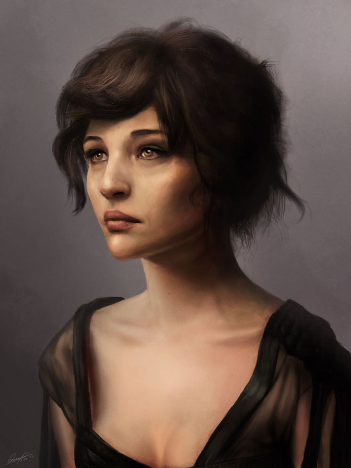 Paintable.cc | 50 Stunning Digital Painting Portraits: Matja Obrovac