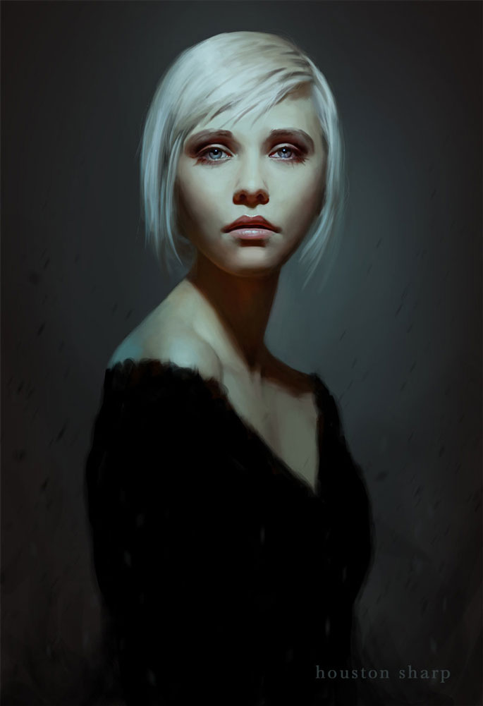 Paintable.cc | 50 Stunning Digital Painting Portraits: Houston Sharp