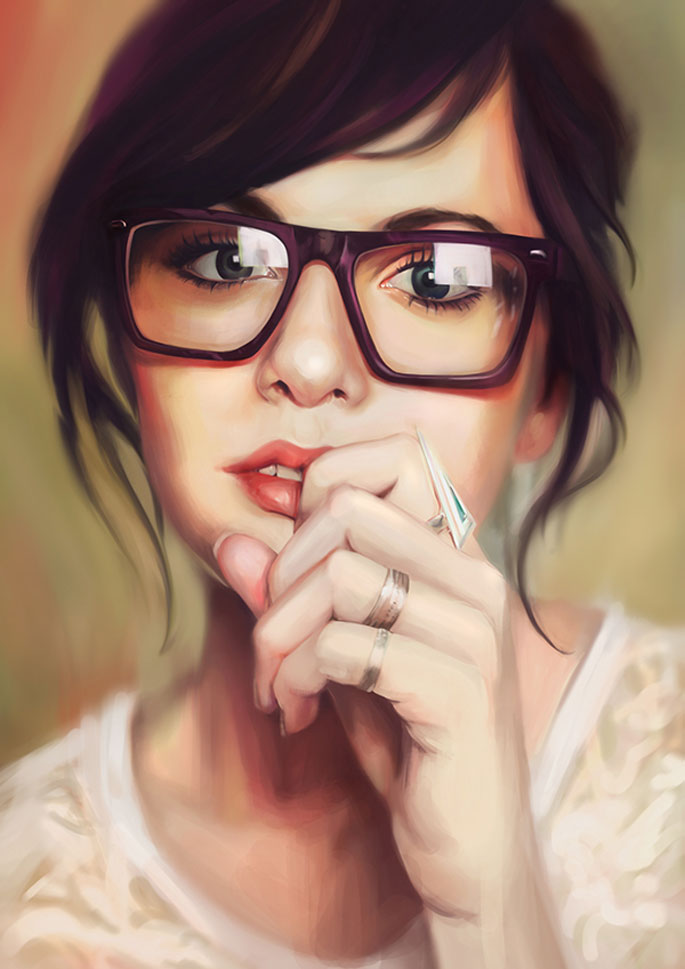 Paintable.cc | 50 Stunning Digital Painting Portraits: Lim Mei Yee