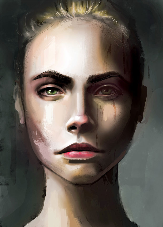 Paintable.cc | 50 Stunning Digital Painting Portraits: David Belliveau