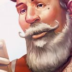 Hipster Santa Speed Painting