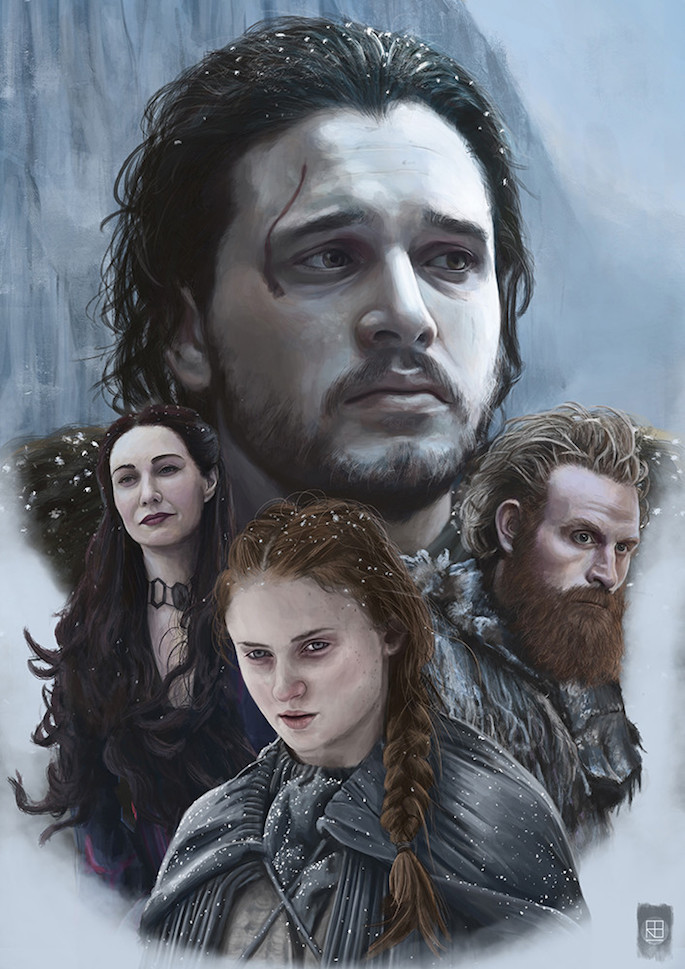 Russell Brampton | 35 Game of Thrones Inspired Digital Paintings on Paintable.cc