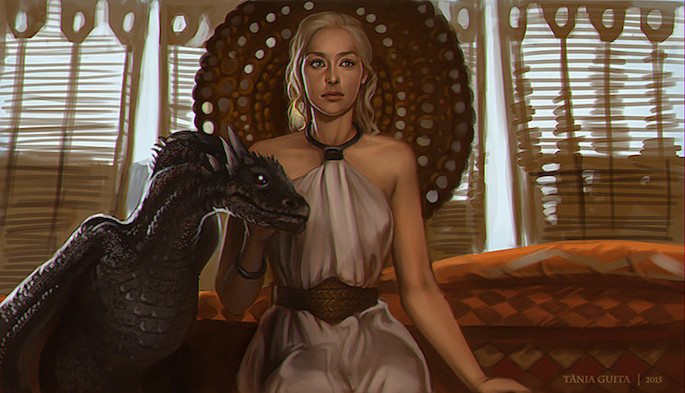 Tânia Guita | 35 Game of Thrones Inspired Digital Paintings on Paintable.cc