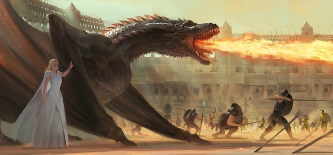 Pu Zhou | 35 Game of Thrones Inspired Digital Paintings on Paintable.cc
