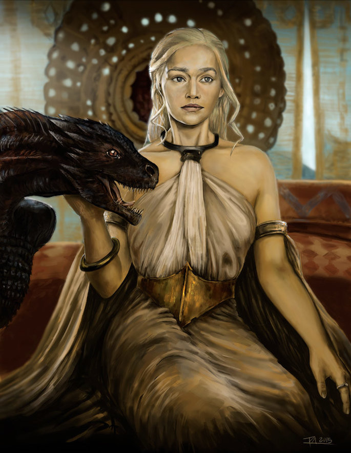 Pablo Glez | 35 Game of Thrones Inspired Digital Paintings on Paintable.cc