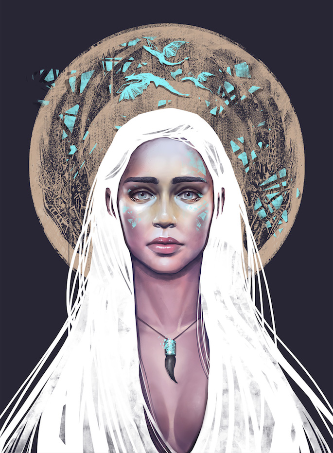 David Belliveau | 35 Game of Thrones Inspired Digital Paintings on Paintable.cc