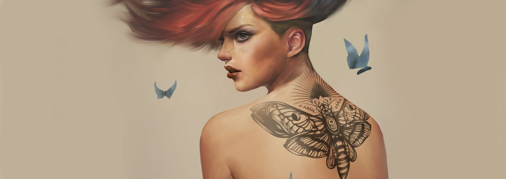 How to Paint Tattoos to your Digital Paintings