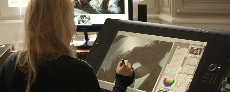 Anna Lakisova Digital Artist in her Studio