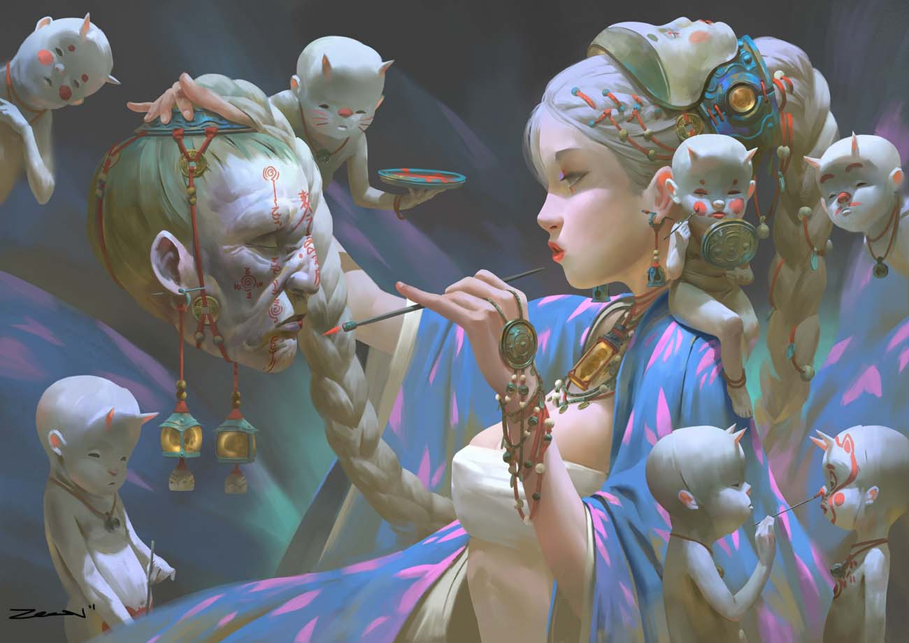 Zeen Chin | Paintable.cc 25 Spooky Halloween Digital Paintings to Give You Nightmares! #digitalpainting #digitalart #halloween