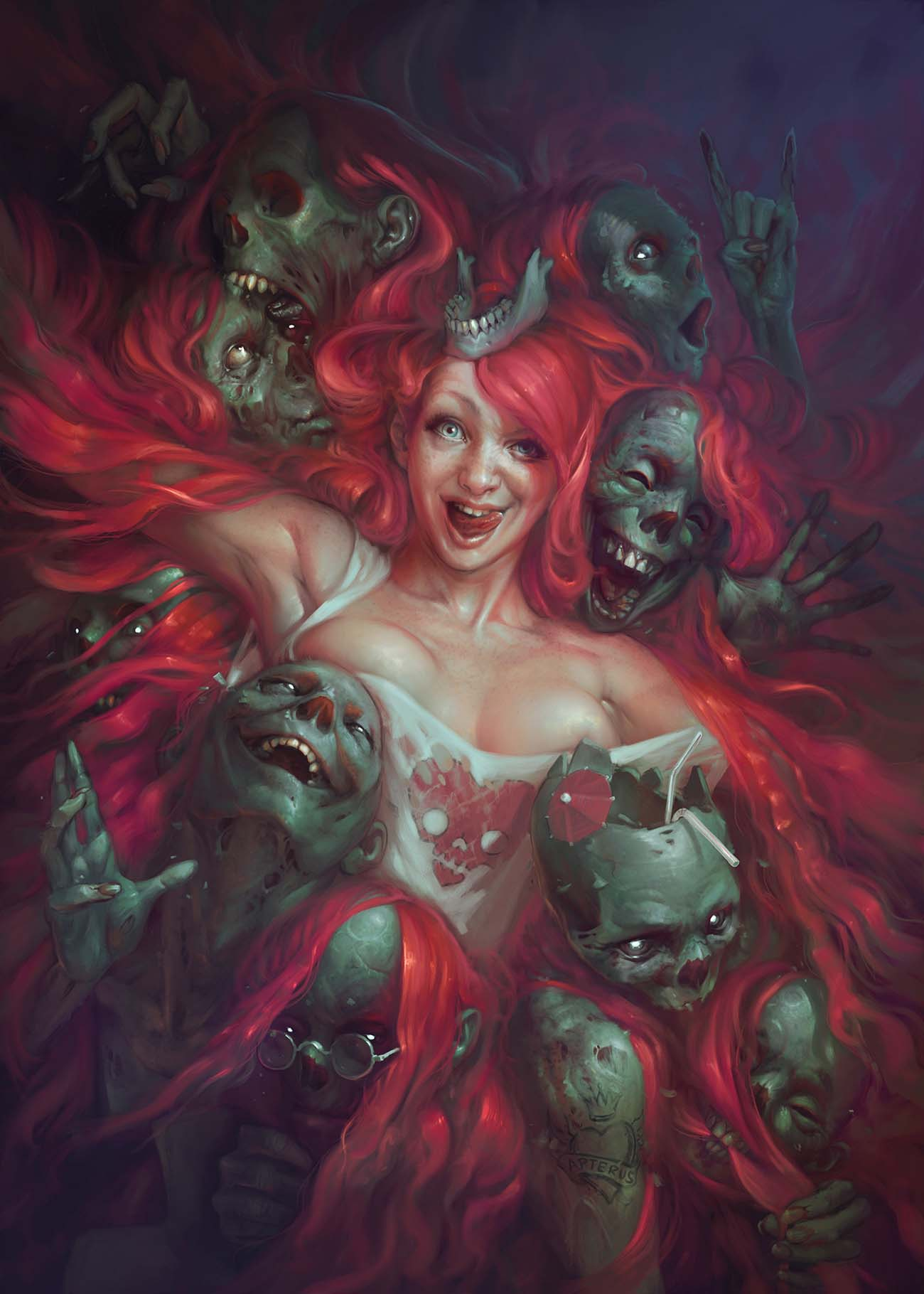 Sabbas Apterus | Paintable.cc 25 Spooky Halloween Digital Paintings to Give You Nightmares! #digitalpainting #digitalart #halloween