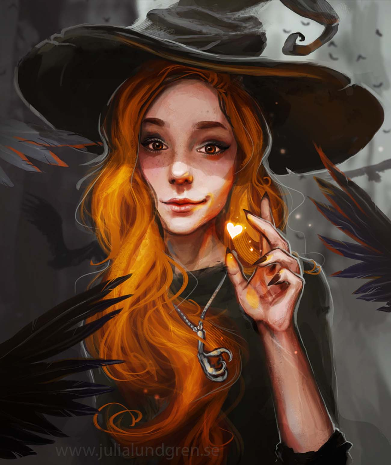 Julia Lundgren | Paintable.cc 25 Spooky Halloween Digital Paintings to Give You Nightmares! #digitalpainting #digitalart #halloween