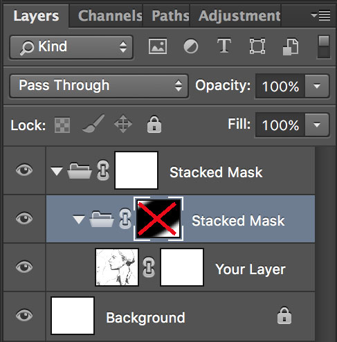 Shortcut: Disabling Layer Masks