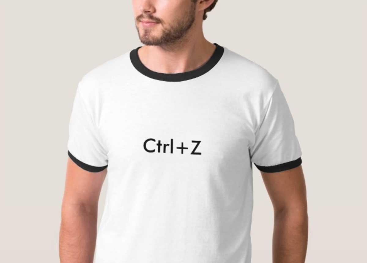 Ctrl + Z Tee | 50 Creative Gifts for Digital Artists and Painters, on Paintable.cc