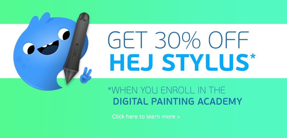 Get 30% off Hej Stylus in the Academy!