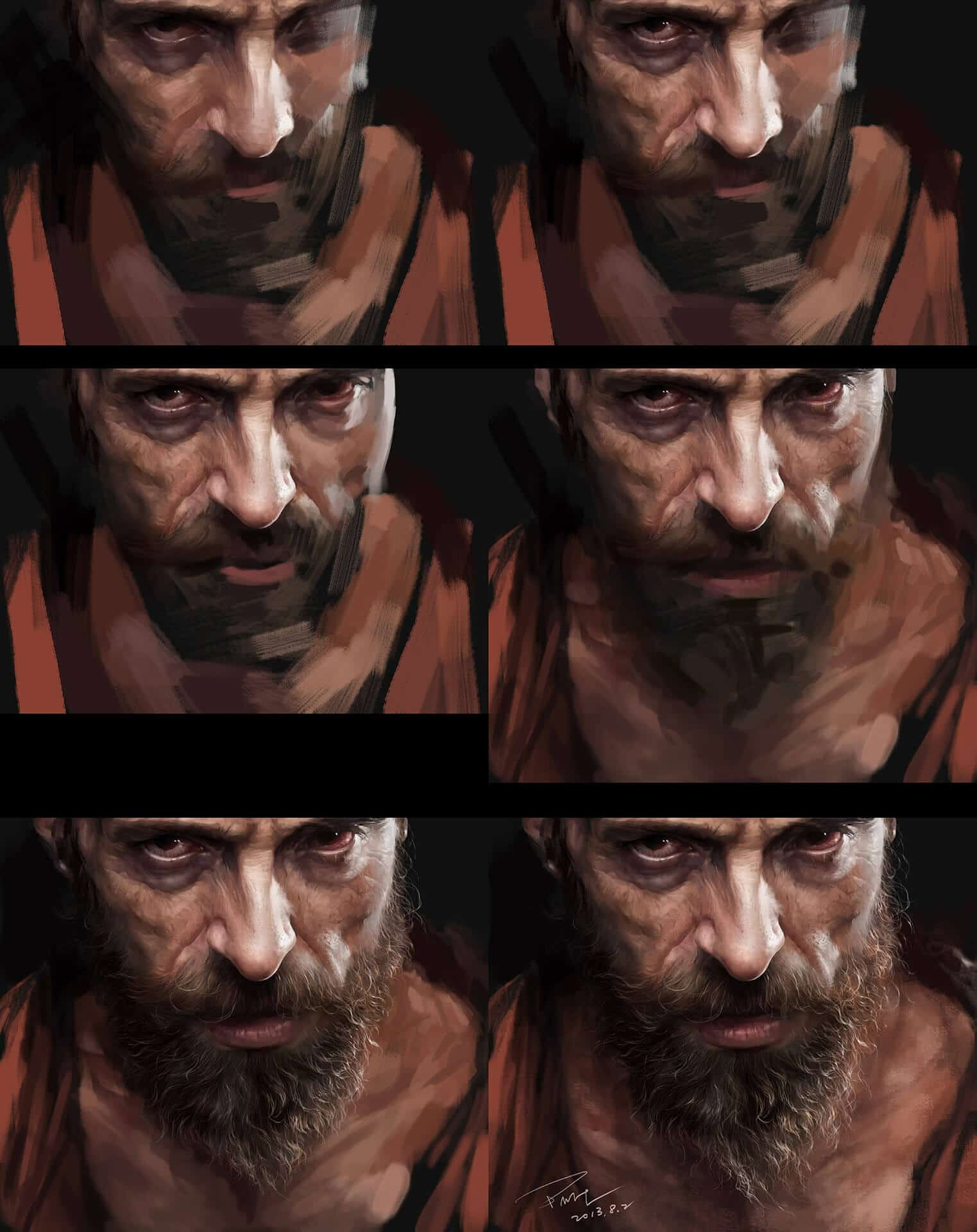 """Jean Valjean"" by Menghua Fang (Process Picture)"