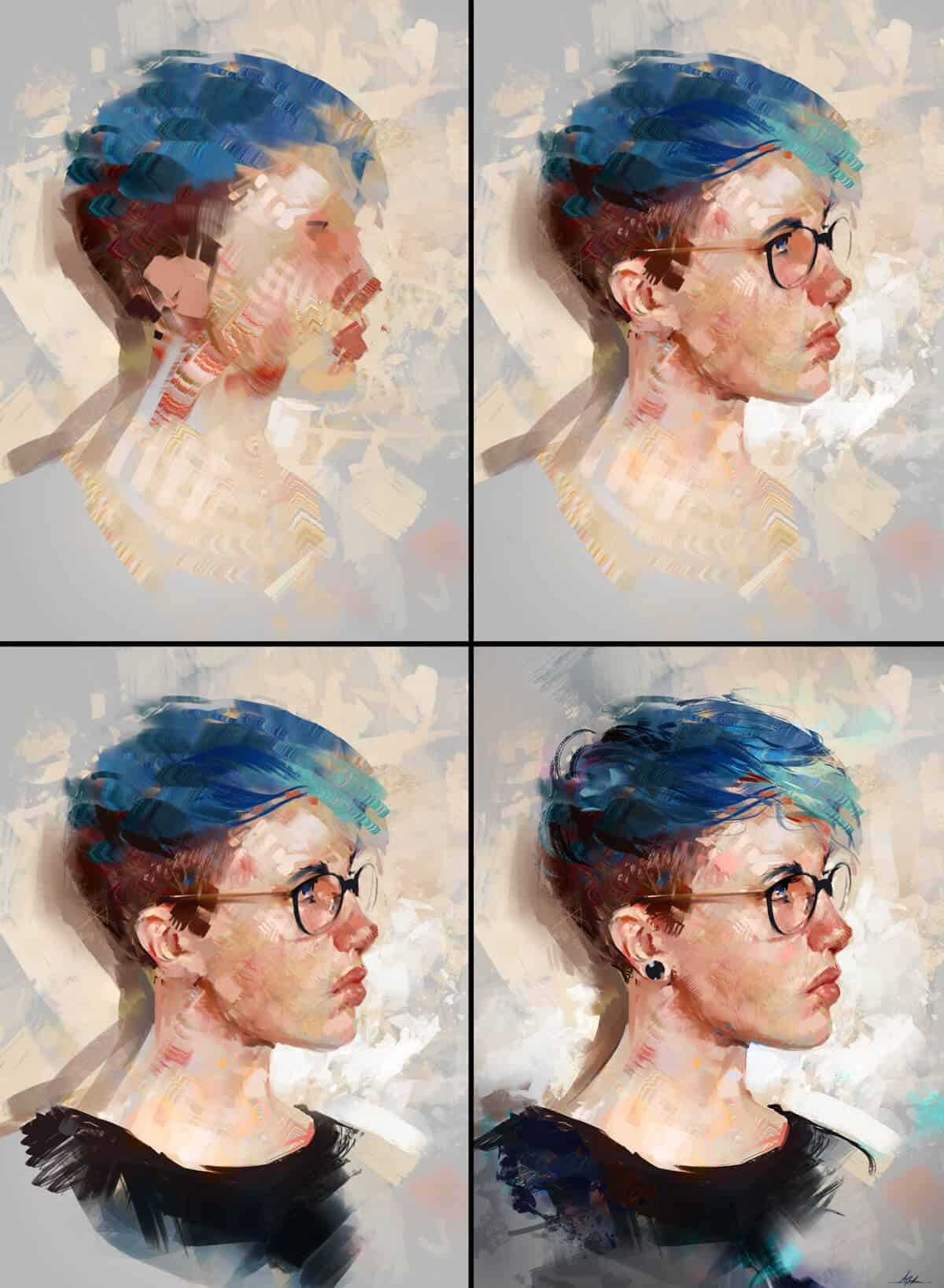 """Colour Study"" by Aaron Griffin (Process Picture)"