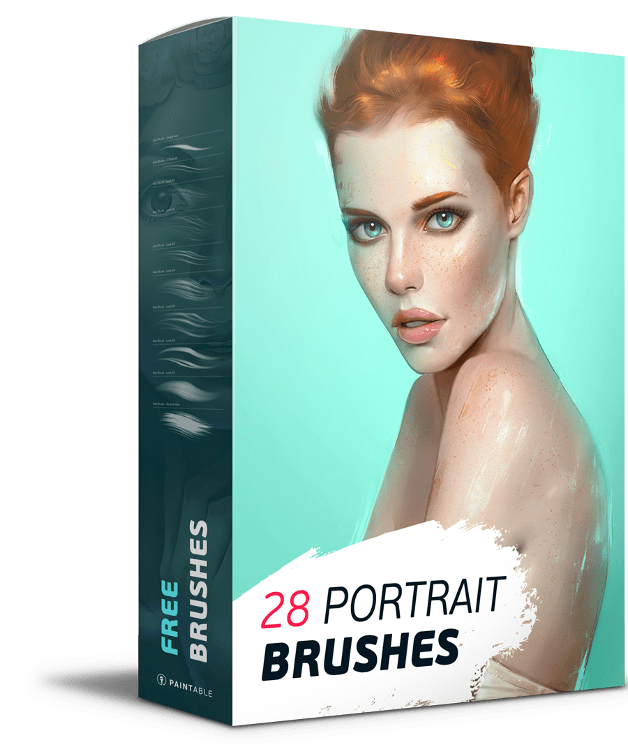 Free Download: 28 Portrait Brushes! - Paintable