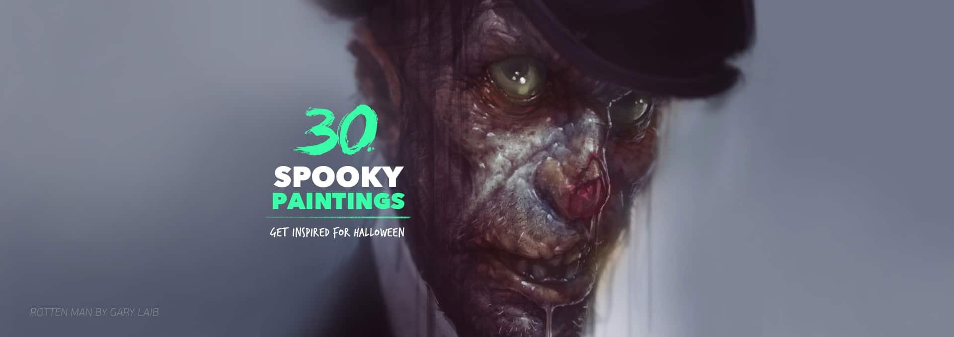 30 Spooky Digital Paintings - Paintable