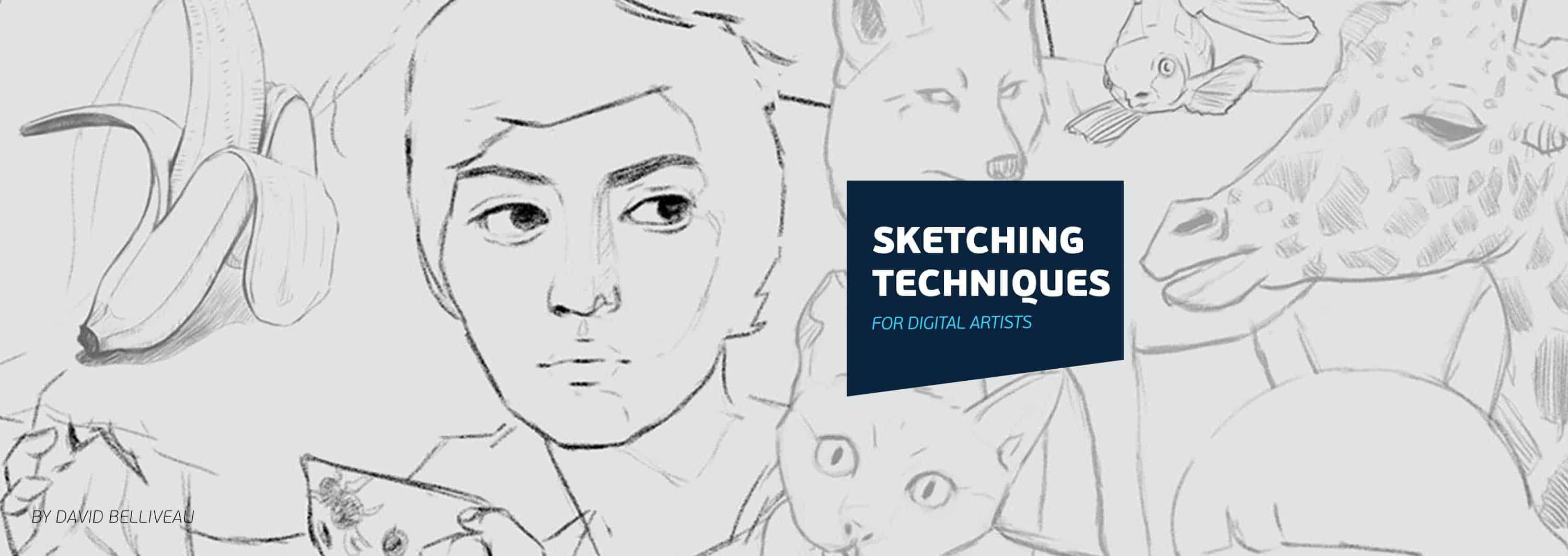 Sketching Techniques for Digital Artists | Paintable.cc Digital Painting - Learn the Art of Digital Painting! #digitalpainting #digitalart