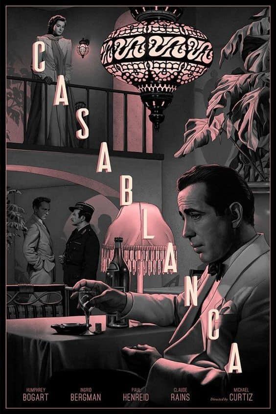 Casablanca movie poster - digital painting