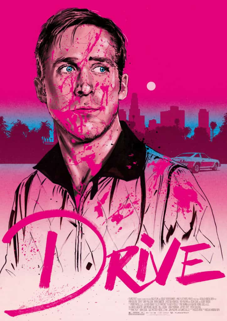 Drive Movie Poster - digital painting