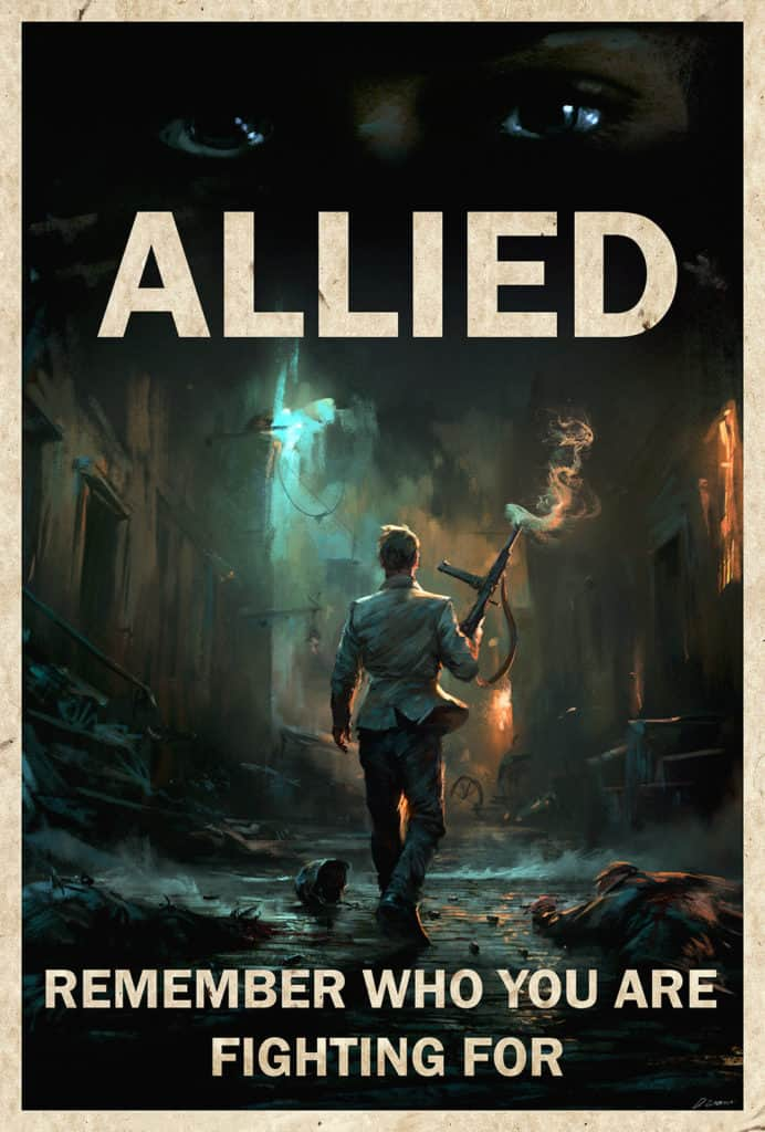 Allied movie poster - Digital Painting