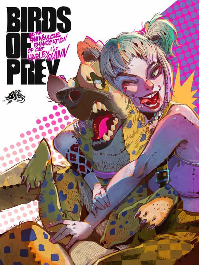 Birds of prey Movie poster - Digital Painting