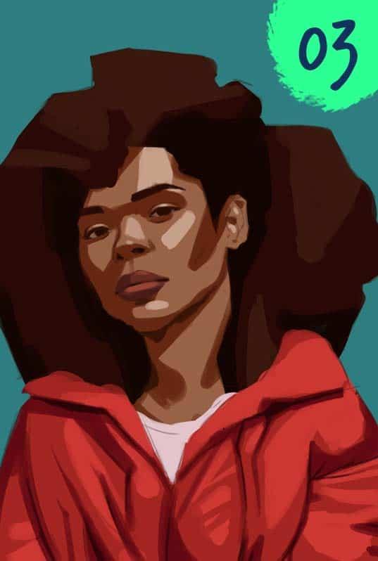 One Week Portrait Challenge Paintable Digital painting