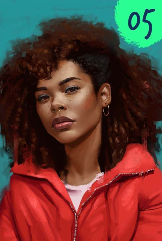 One Week Portrait Challenge Paintable Digital painting