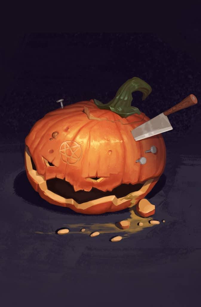 Digital Painting Pumpkin Carving Challenge