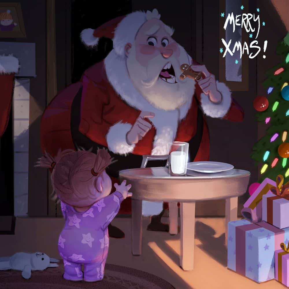 Christmas Paintings - Paintable.cc Digital Painting Gallery - Holiday Illustrations