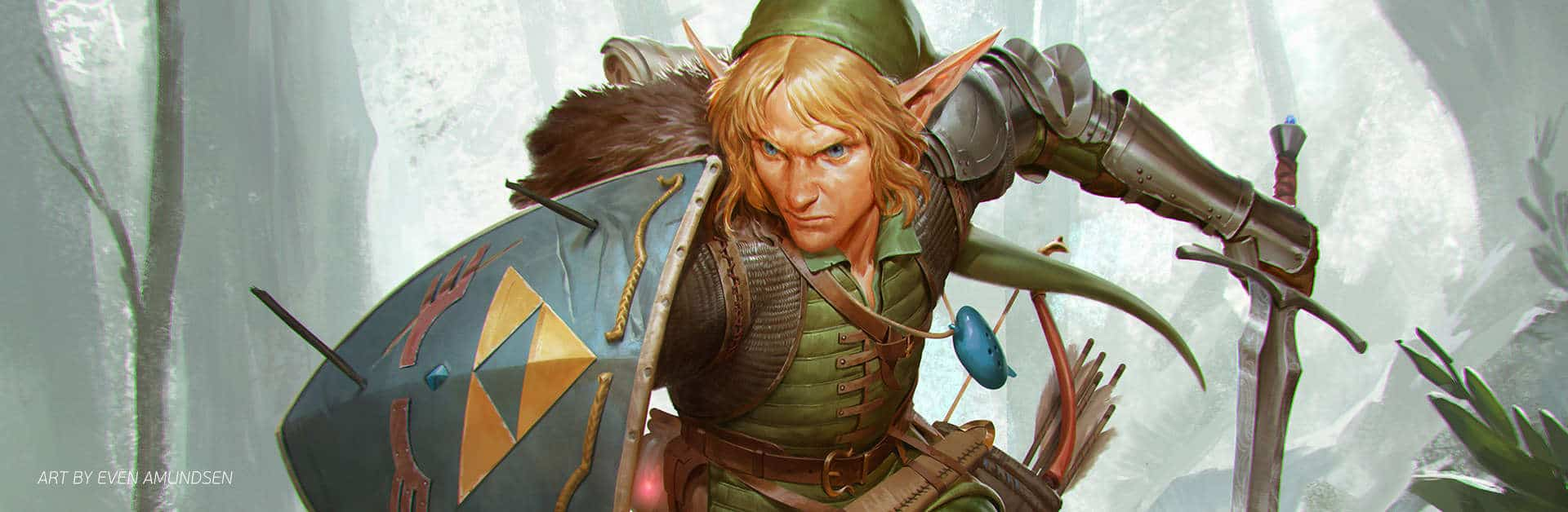Link from the The Legend of Zelda: The Breath of The Wild | Paintable.cc Digital Painting Inspiration