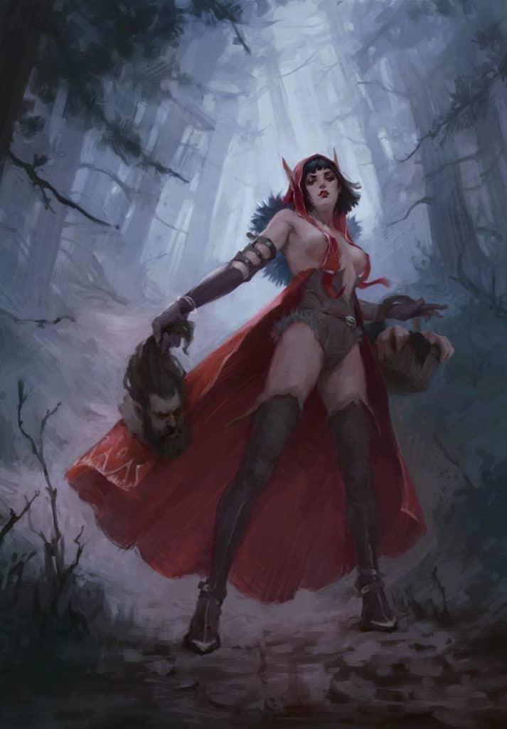 Little Red Riding Hood - Digital Painting Inspiration | Paintable.cc - Anna Dyachenko