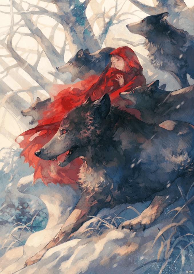 Little Red Riding Hood - Digital Painting Inspiration | Paintable.cc - よしおか
