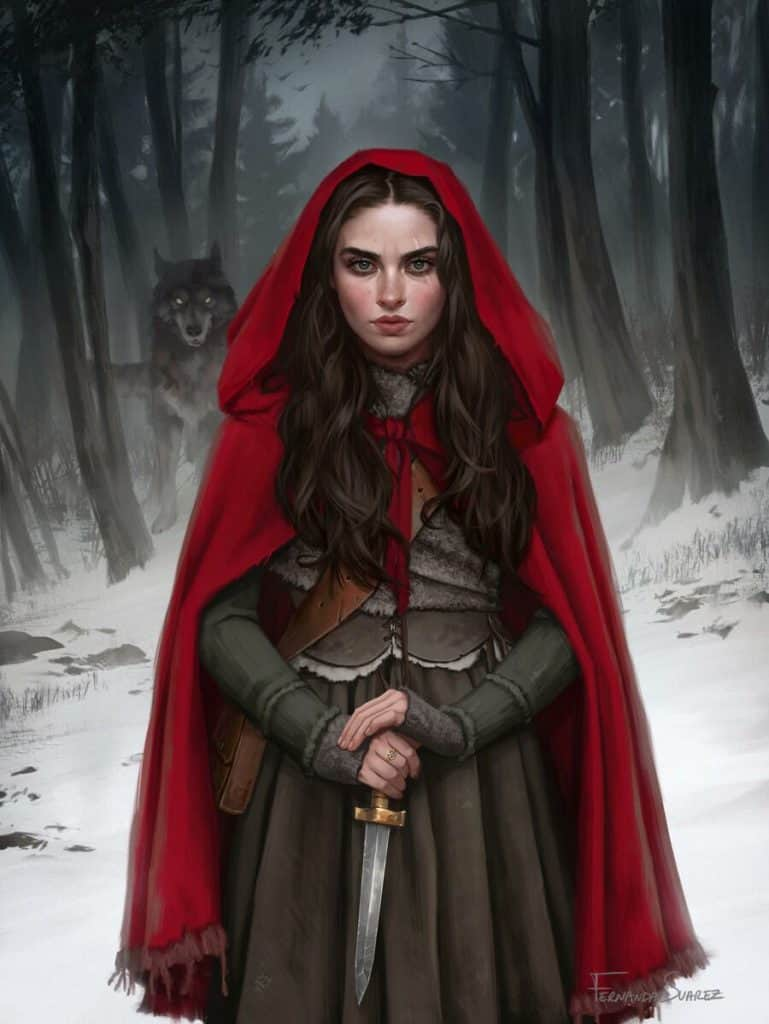 Little Red Riding Hood - Digital Painting Inspiration | Paintable.cc - Fernanda Suarez