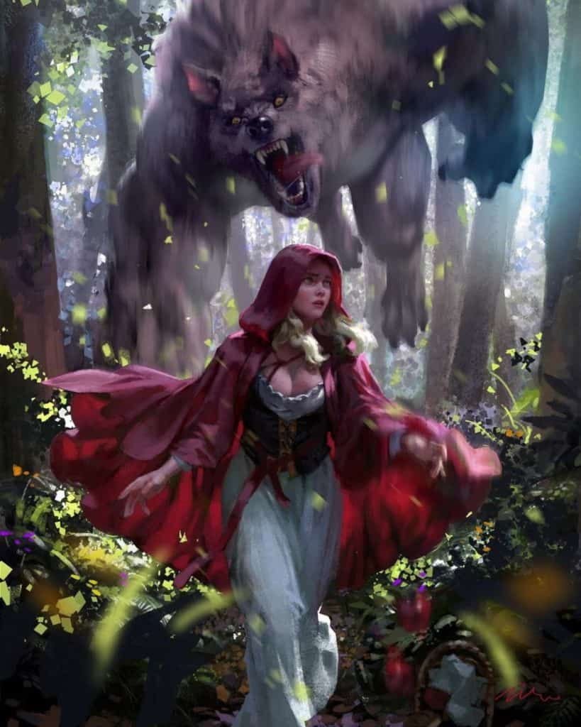 Little Red Riding Hood - Digital Painting Inspiration | Paintable.cc- hanho lee