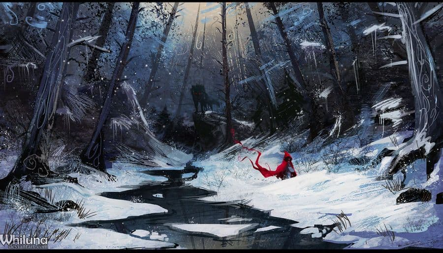 Little Red Riding Hood - Digital Painting Inspiration | Paintable.cc - just-Rascal