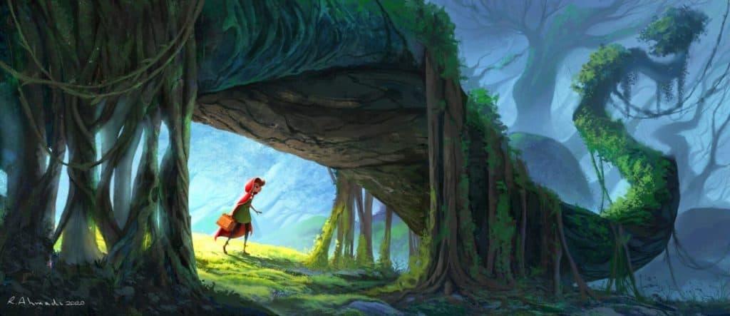 Little Red Riding Hood - Digital Painting Inspiration | Paintable.cc - Rasool Ahmadi
